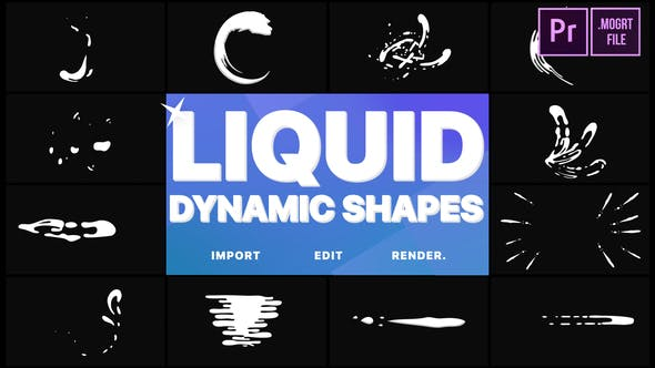 Thumbnail for Dynamic Liquid Shapes | Premiere Pro MOGRT