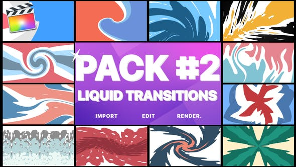 Thumbnail for Liquid Transitions Pack 02 | FCPX