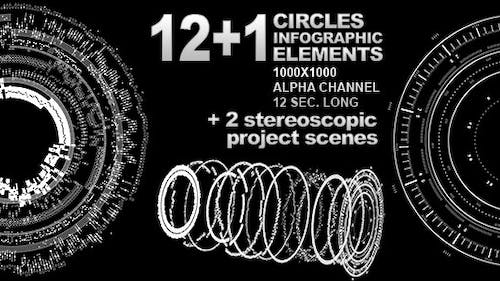 Infographic Disk Elements