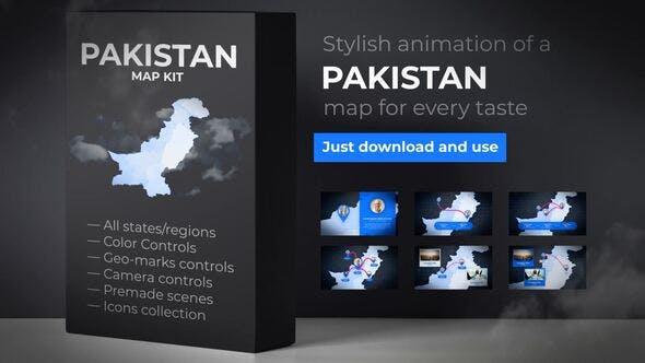 Thumbnail for Pakistan Map - Islamic Republic of Pakistan Map Kit