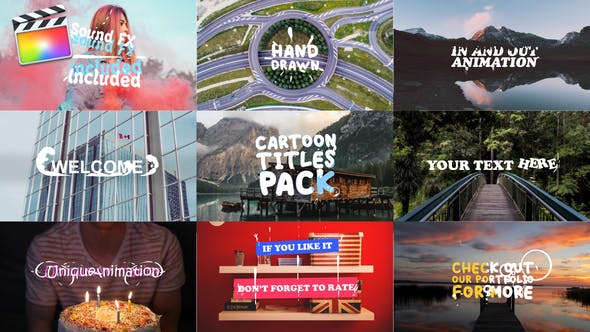 Cartoon Titles Pack | FCPX