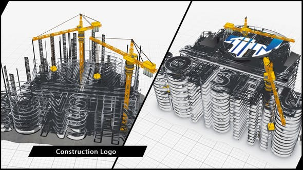 Thumbnail for Construction Company Logo Buildup
