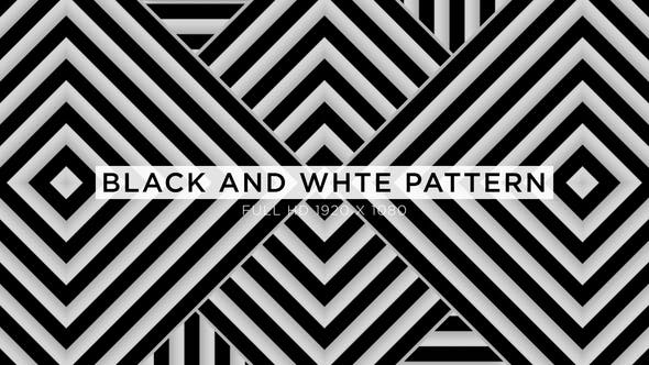 Thumbnail for Black And White Pattern VJ Loops Background