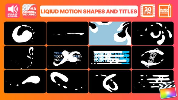 Thumbnail for Liquid Motion Shapes And Titles | FCPX