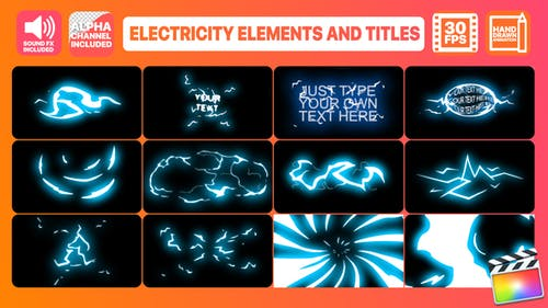 Electricity Elements And Titles   FCPX