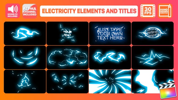 Thumbnail for Electricity Elements And Titles | Final Cut Pro