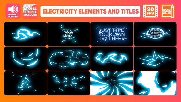 Thumbnail for Electricity Elements And Titles | After Effects