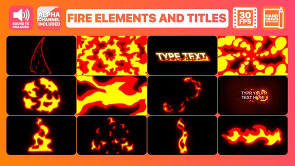 Thumbnail for Fire Elements And Titles | After Effects