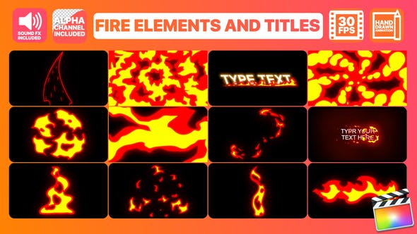 Thumbnail for Fire Elements And Titles | Final Cut Pro