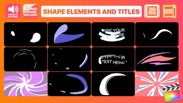 Thumbnail for Shape Elements And Titles | FCPX