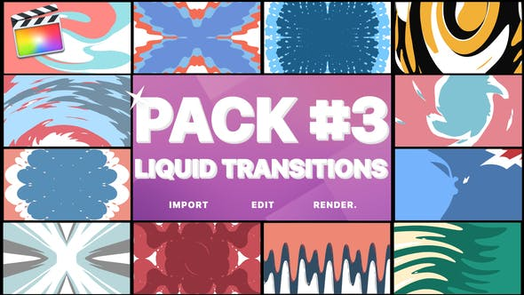Thumbnail for Liquid Transitions Pack 03 | Final Cut