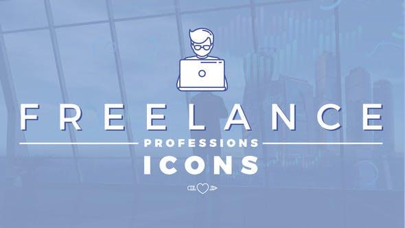Freelance Professions Icons