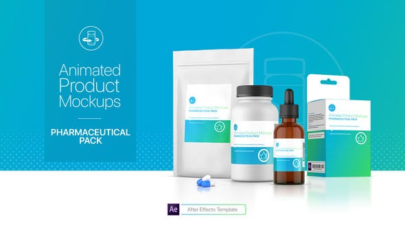 Thumbnail for Animated Product Mockups - Pharmaceutical Pack