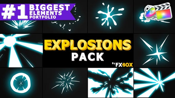Thumbnail for Explosion Elements Pack | FCPX