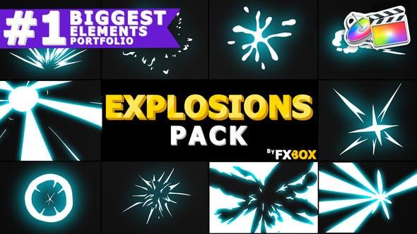 Thumbnail for Pack d'éléments d'explosion | FCPX