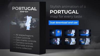 Portugal Map - Portuguese Republic Map Kit