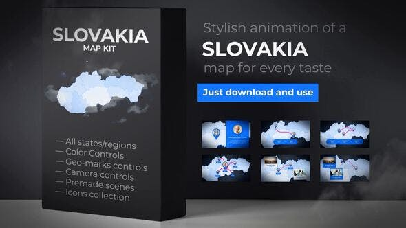 Thumbnail for Slovakia Map - Slovak Republic Map Kit