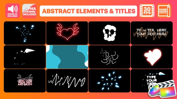 Thumbnail for Flash FX Abstract Elements And Titles | FCPX