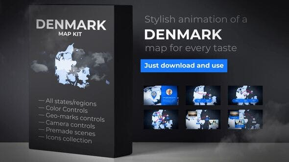 Thumbnail for Denmark  Map - Kingdom of Denmark Map Kit