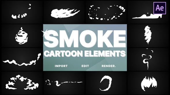Thumbnail for Flash FX Cartoon Smoke | After Effects