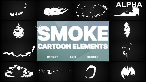 Thumbnail for Flash FX Cartoon Smoke   Motion Graphics Pack