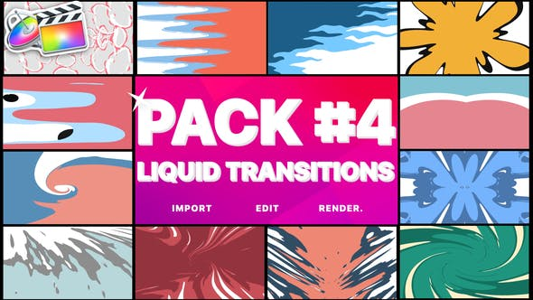 Thumbnail for Liquid Transitions Pack 04 | Final Cut