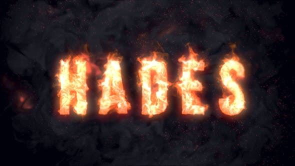 Thumbnail for Hades - Animated Fire Typeface