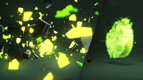 3D Light Shatter Logo