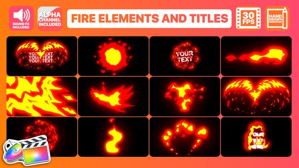 Thumbnail for Flame Elements And Titles | FCPX