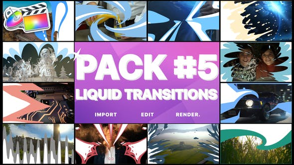 Thumbnail for Liquid Transitions Pack 05 | FCPX