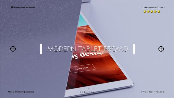 Modern Tablet Promo