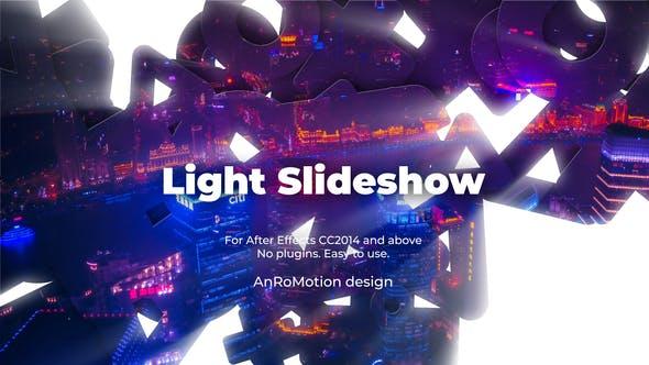 Presentación de diapositivas de luz