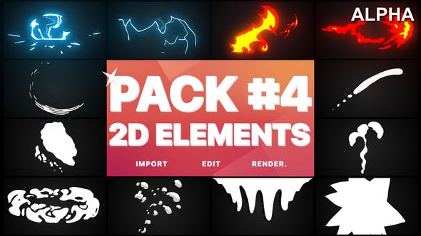 Thumbnail for Flash FX Elements Pack 04 | Motion Graphics Pack
