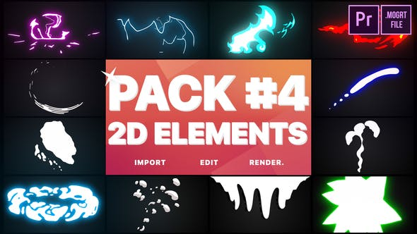 Thumbnail for Flash FX Elements Pack 04 | Premiere Pro MOGRT