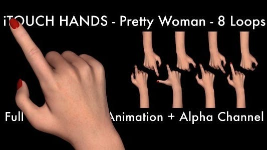 iTouch Hands - Pretty Women (Pack-8 Loops)