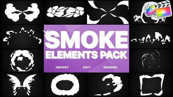 Thumbnail for Smoke Elements Pack | Final Cut