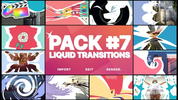 Thumbnail for Liquid Transitions Pack 07 | FCPX