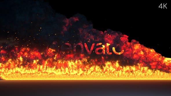 Thumbnail for Fire Burning Logo Reveal