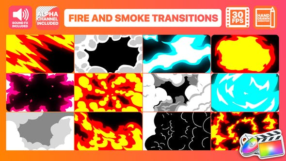 Thumbnail for Fire And Smoke Transitions | FCPX