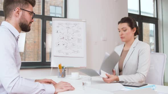 Thumbnail for Employer Having Interview with Employee at Office