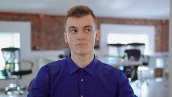 Thumbnail for Fair-haired Businessman at Work