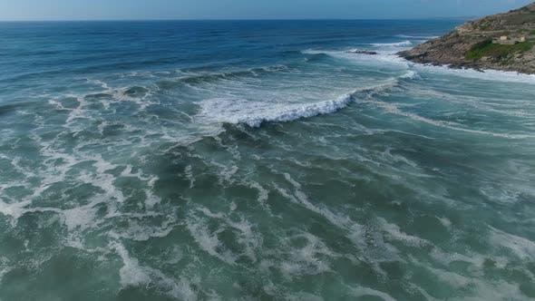 Thumbnail for Waves and Azure Water as A Background. View from Drone at The Ocean Surface