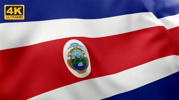 Thumbnail for Flag of Costa Rica - 4K