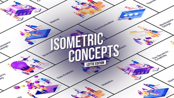 Thumbnail for Isometric Concept - Lottie Edition