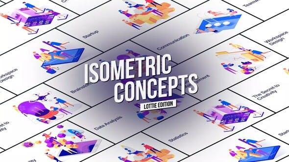 Isometric Concept - Lottie Edition