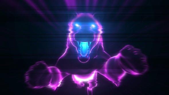 Thumbnail for Neon Glitch Logo Intro