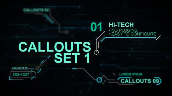Thumbnail for Callouts set 1 hi-tech