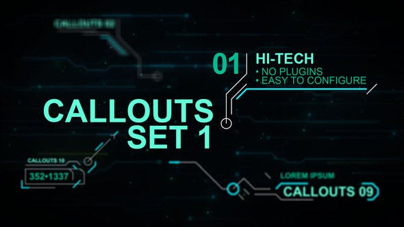 Callouts set 1 hi-tech