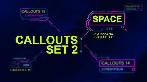 Callouts set 2 space
