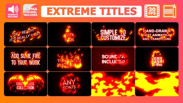 Thumbnail for Extreme Titles | Premiere Pro MOGRT